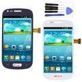 Azul opciones de blanco para samsung galaxy s3 mini i8190 lcd de pantalla táctil digitalizador + herramientas reemplazo libre del envío