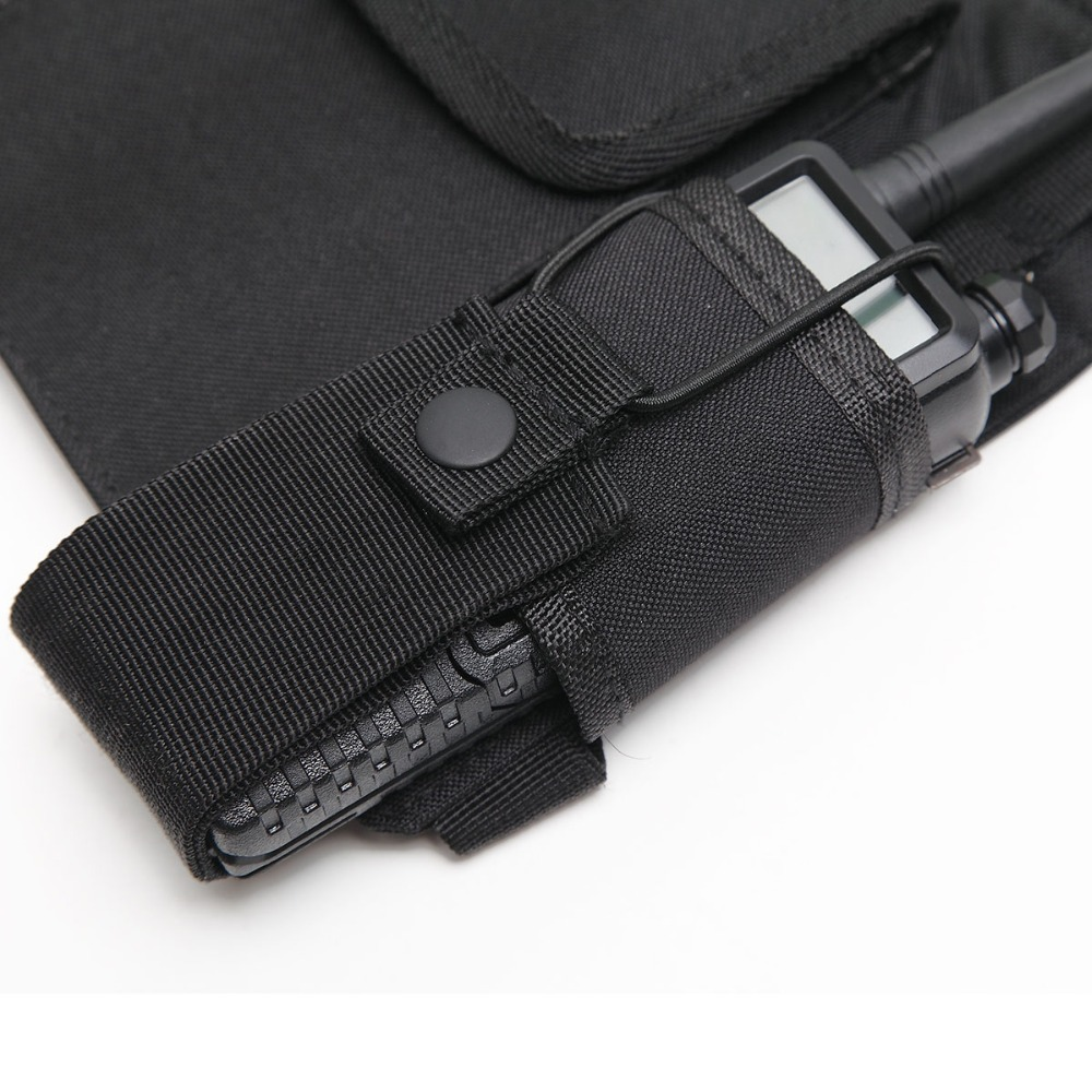 Nylon pouch Carry Case Walkie Talkie Chest Pocket Backpack Black for Baofeng UV-5R UV-82 UV-9R UV-XR TYT TH-UV8000D MD-380