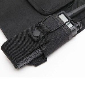 Image 3 - Nylon pouch Carry Case Walkie Talkie Chest Pocket Backpack Black for Baofeng UV 5R UV 82 UV 9R UV XR TYT TH UV8000D MD 380
