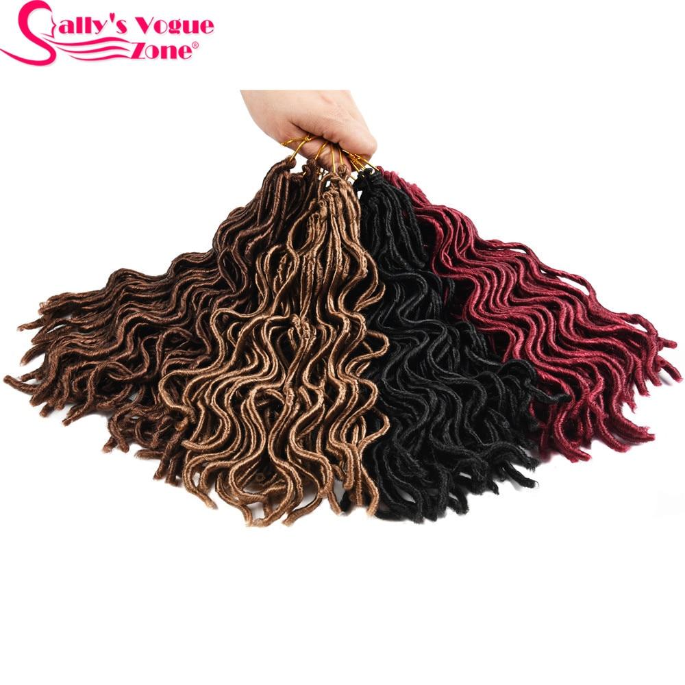 Sallyhair 3packs Lot Short Faux Locs Curly Crochet Hair 24
