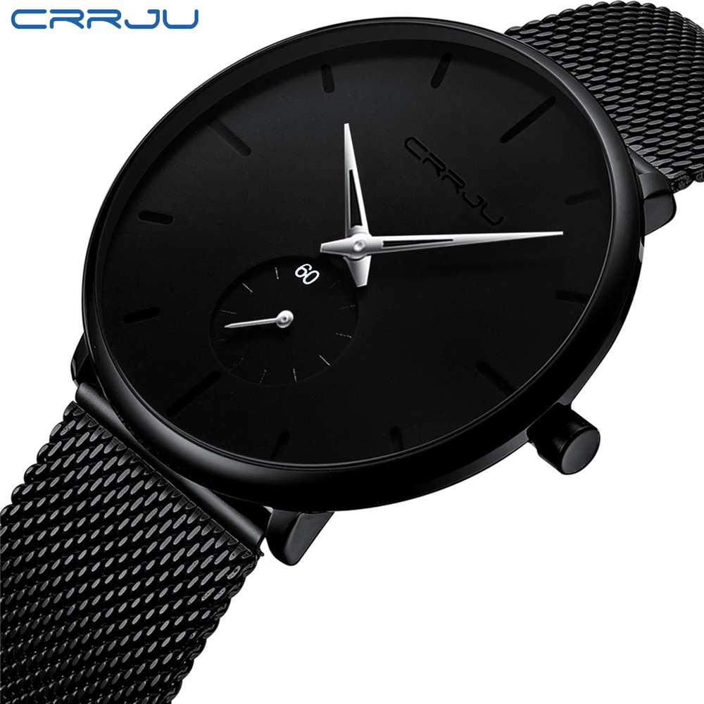 Image 3 - CRRJU mody przypadkowi męskie zegarki wodoodporna armia wojskowy Sport analogowy zegarek kwarcowy zegarek na rękę dla mężczyzn zegar na prezent Relogio MasculinoZegarki kwarcowe   -