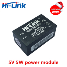 Free shipping 5pcs/lot HLK 5M05 220V 5V 1A AC DC isolated smart power module supply home automation