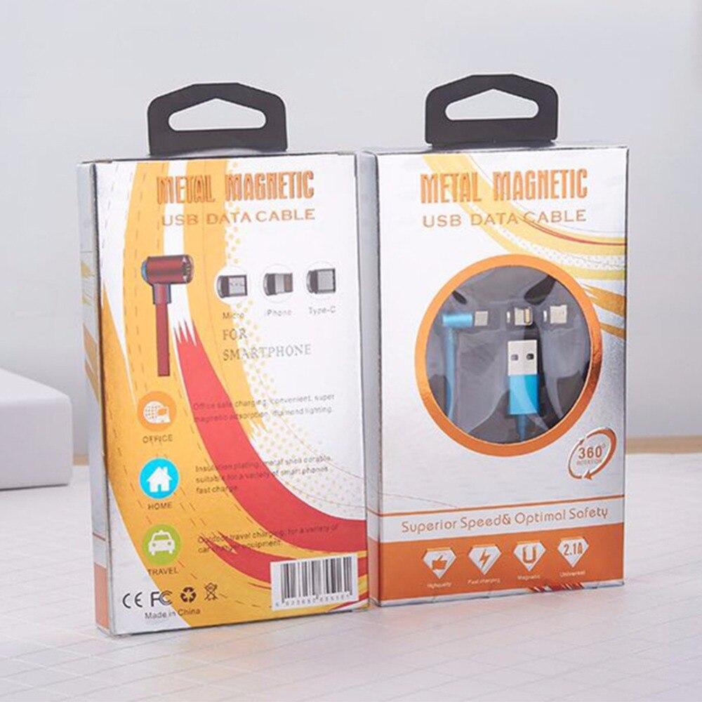 3 в 1 данных зарядного шнура для кабель Lightning <font><b>iPhone</b></font> X/8 плюс/7/6 s/ 6/5S/5 Магнитная угол <font><b>90</b></font> градусов Android мобильного телефона 10 шт./лот