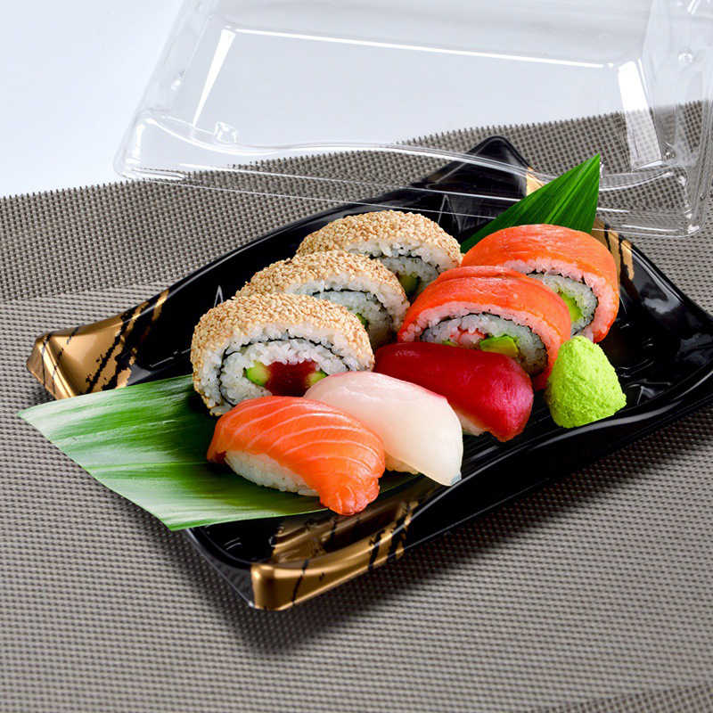 Sekali Pakai Takeaway Sushi Kotak Kemasan Makanan Jepang Kotak