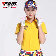 020254 Golf Clothes Woman Short-sleeved Shirts Ladies Dry Golf Polo Shirt Cotton Soft Breathable Sports Branded Tshirts