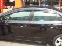 Injection molding Mugen Style Sun Window Visor For Honda Civic 2006 2007 2008 2009 2010 2011