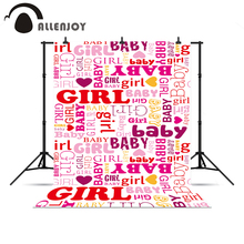 Allenjoy Backdrops Girl Baby Pink Graffiti Background For A Photo Shoot New Year