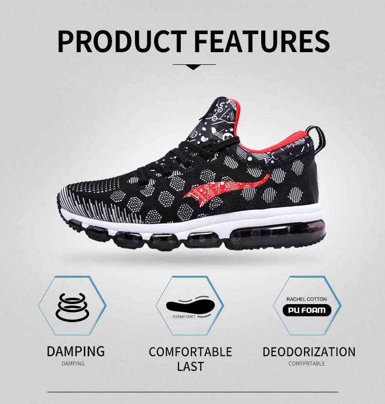 Onemix Running Shoes for men women's Sneakers Elastic Women Jogging Shoes Black Trainers Sport Shoes for outdoor jogging walking 10