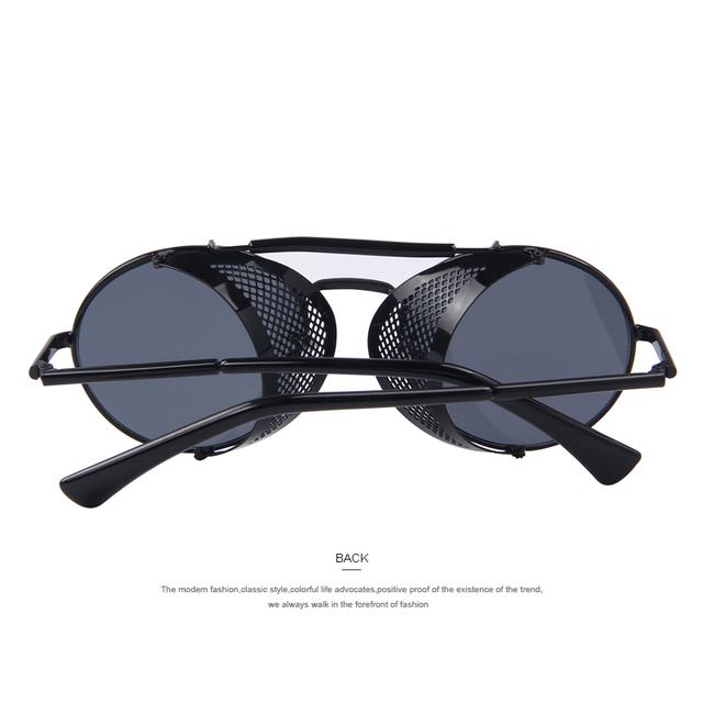 MERRY'S Women Retro Design Round Steampunk Sun glasses Oculos de sol UV400