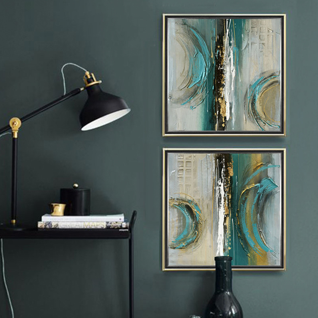 Modern Abstract Painting Square 3 Piece Canvas Art Wall Pictures Posters Prints Home Duvar Tablo