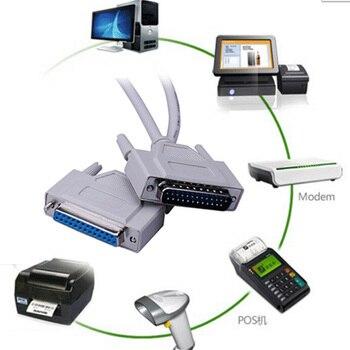 Paralelo 25Pin 25-Pin DB25 macho a hembra impresora LPT DB25 M-F LPT conector de Cable P0.05