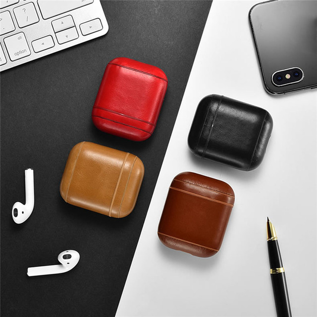 Genuine Leather Retro Series AirPod Case Cover 5