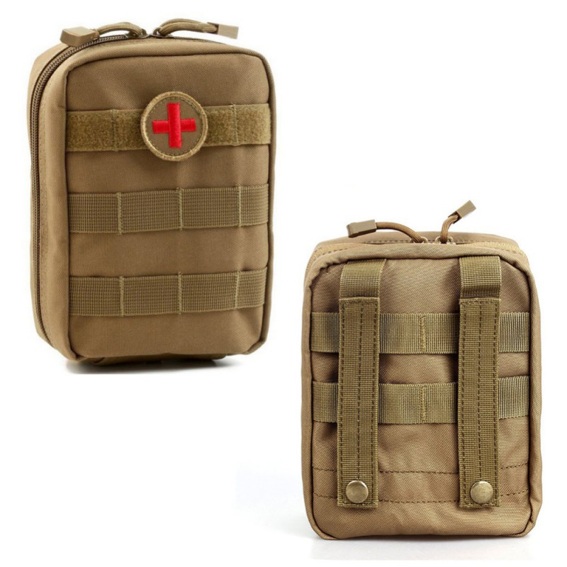 2018Outdoor Hunting Sports Molle Tactical Military 900D EDC Utility Bag Medical First Aid Pouch Case Tools