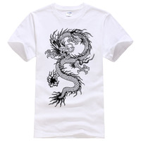 2017 Summer New Men Women Brand T Shirt Fashion Dragon Printing Cool T Shirt Plus Size