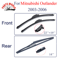 Kit Silicone Rubber Front And Rear Wiper Blades For Mistubishi Outlander 2003 2004 2005 2006 Windscreen