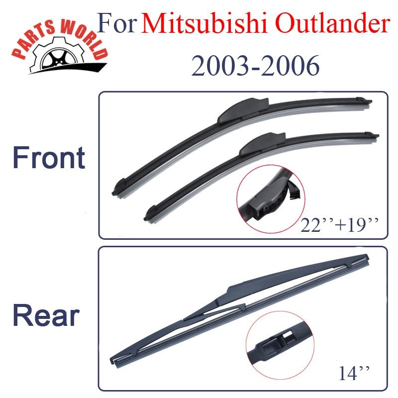 Set rubberen ruitenwisserbladen voor en achter voor Mitsubishi - Auto-onderdelen