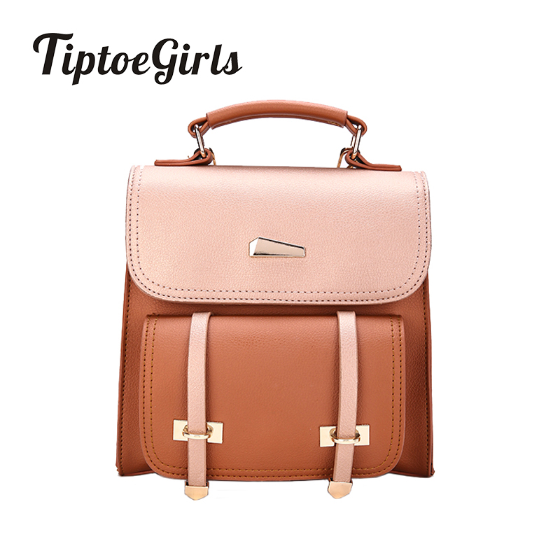New pu Leather Fashion Shoulder Bag Korean Version of the Retro England Minimalist Backpack College Wind Bag 2016 new korean version of the retro shoulder bag fashion backpack male schoolbags traveling bags