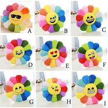30cm 40cm Colorful new flowers sunflowers plush toy pillow toys