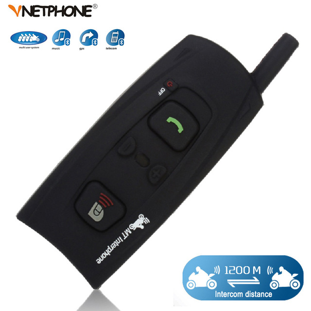 VNETPHONE Bluetooth Motorcycle Helmet Intercom Interphone BT Walkie Talkie For Skiing Helmet Headset intercomunicadores de motos bluetooth walkie talkie intercom headset wireless bluetooth headset durable 20hz 20khz walkie talkie adapter for baofeng