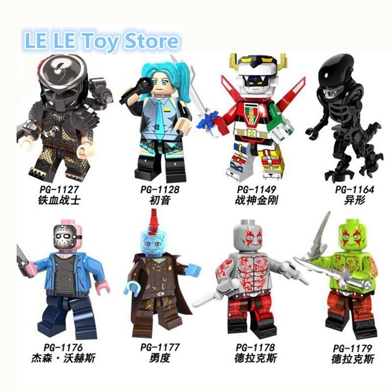 8pcs-lot-pg8102-voltron-predator-figure-jason-voorhees-yondu-font-b-hatsune-b-font-miku-alien-drax-set-model-building-blocks-brick-toys