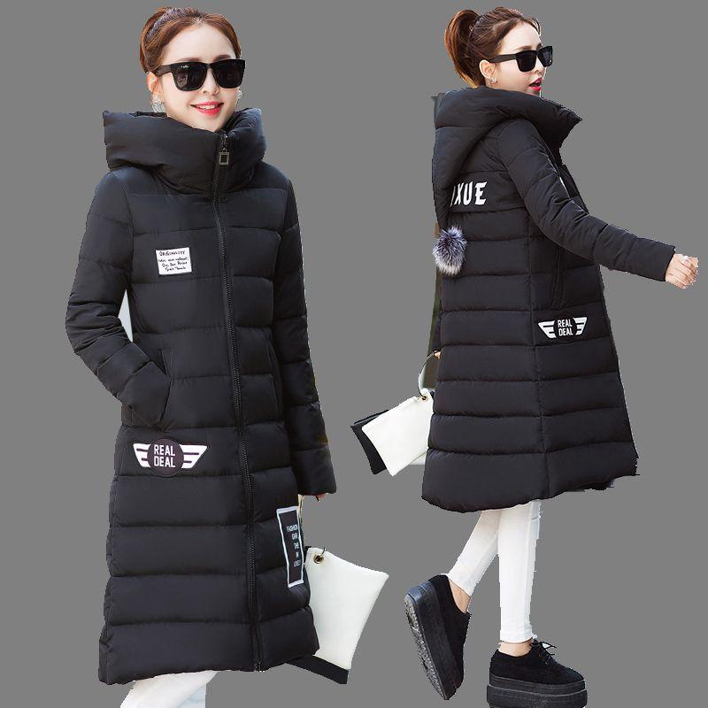 2016 Winter Jacket Women Hooded Thicken Coat Female fashion Warm Outwear Cotton-Padded Long Wadded Jacket Down Coat Parka A1517