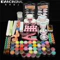 Nail Art Set Acrylic Liquid Glitter Powder File Brush UV Gel Nails Tips Tools DIY Kit Primer Beauty Tool For Salon Manicure