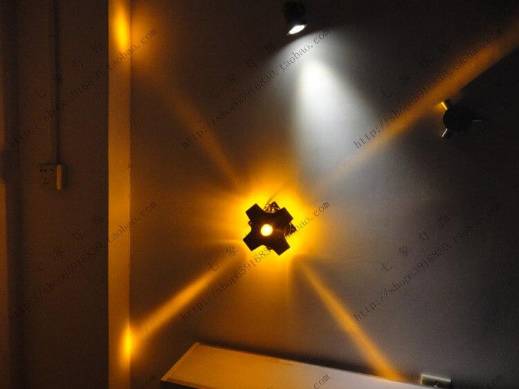 Lampa 4 w 12 w wysokiej mocy lampy led krzyż starlight odkryty wodoodporna kinkiet kolorowe gradientu światła światło gwiazdy