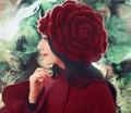 Sweet женщины зимняя шапка Шапочки большие цветы Бисер Шапки Леди Головные Уборы Шапочки женские Зимние Шапки женский Шерсть Вязаная Шапка берет