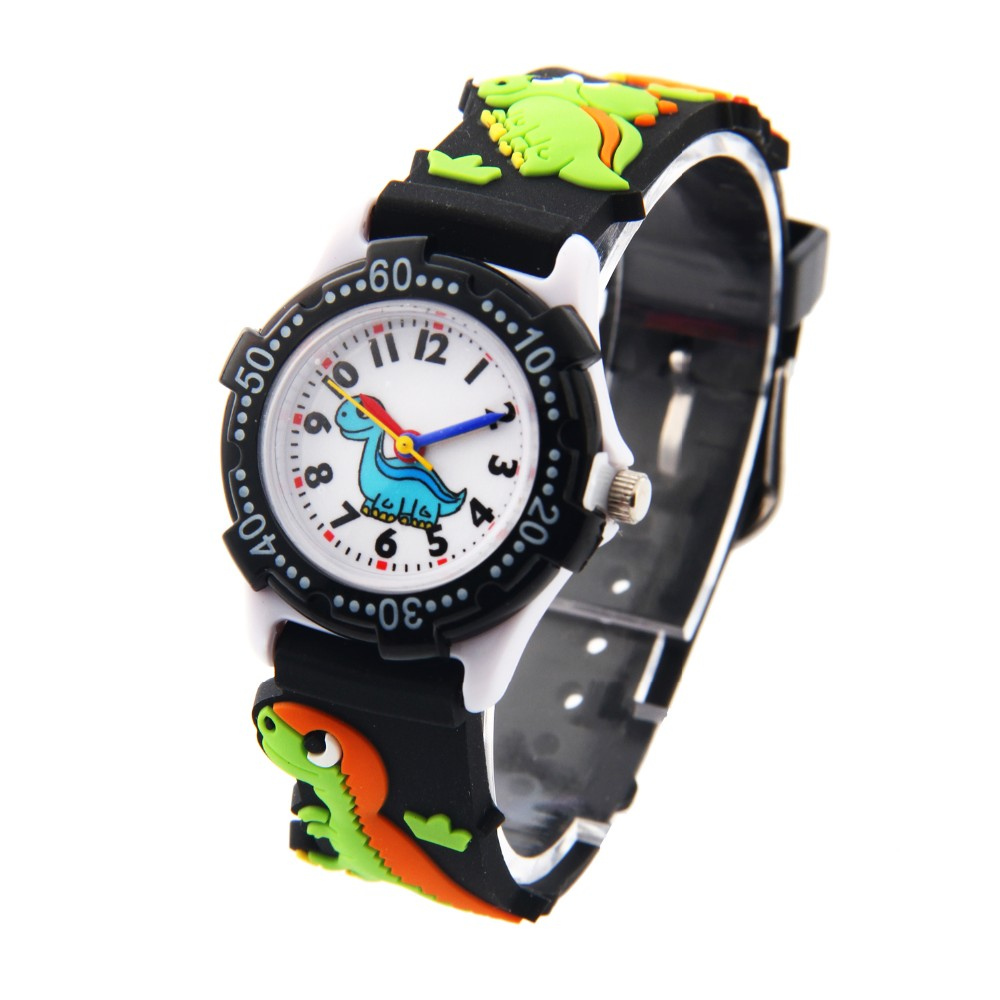 Free Drop Shipping Retail Hot Sale Gift The Dinosaurs Cartoon Kids Boys Girls Students 3D Plastic Digital Wrist Watch