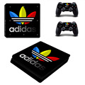 For Adidas PS4 Slim Skin Sticker Decal For Sony PS4 PlayStation 4 Slim Console and 2 Controllers Stickers