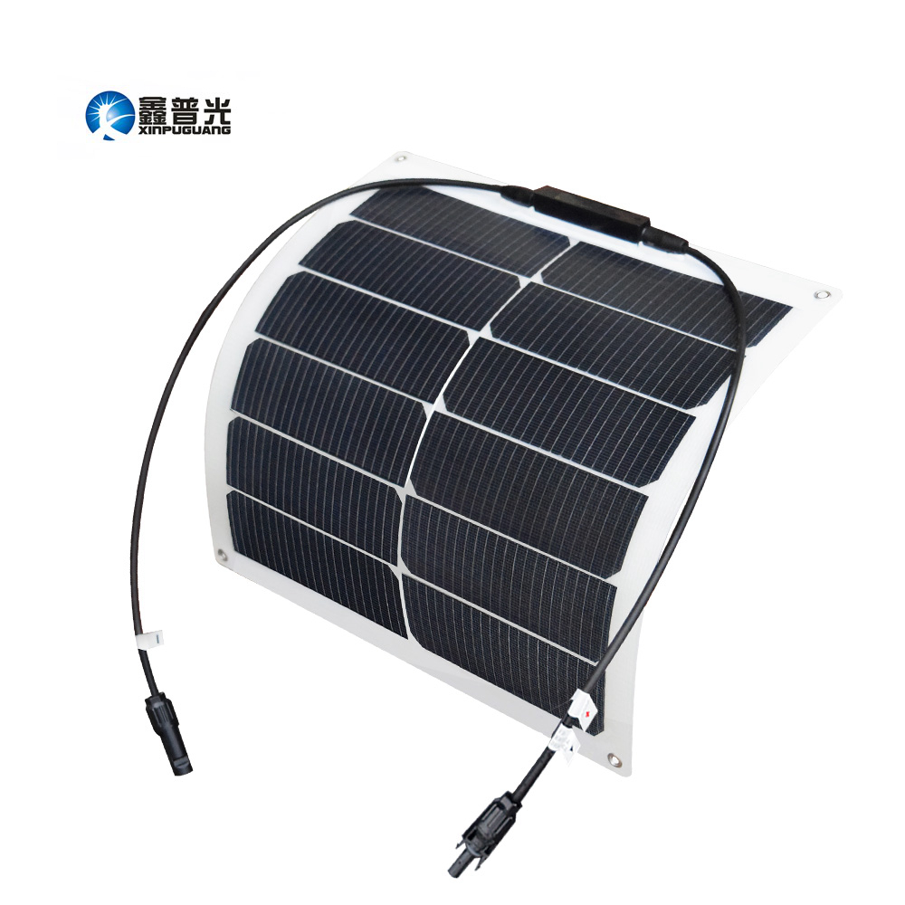 Xinpuguang 20w Flexible Solar Panel Solar Cells Cell Module DC for Car Yacht Led Light RV Boat 12v Battery Boat Outdoor Charger