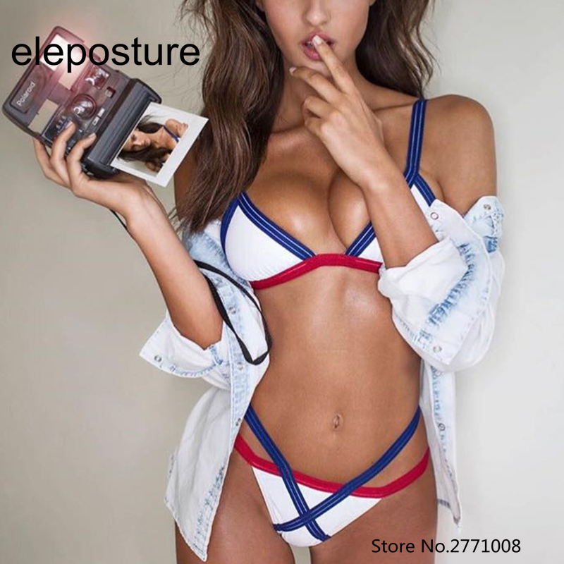 Sexy Bikini Brazilian 2017 High Waist Swimsuit Cut Out Bikini Set Bandage Thong Swimwear Women Beach Wear Maillot De Bain Femme  zpdwt triangle thong two piece bikini set sexy swimwear women bandage swimsuit high cut bikini brazilian maillot de bain femme