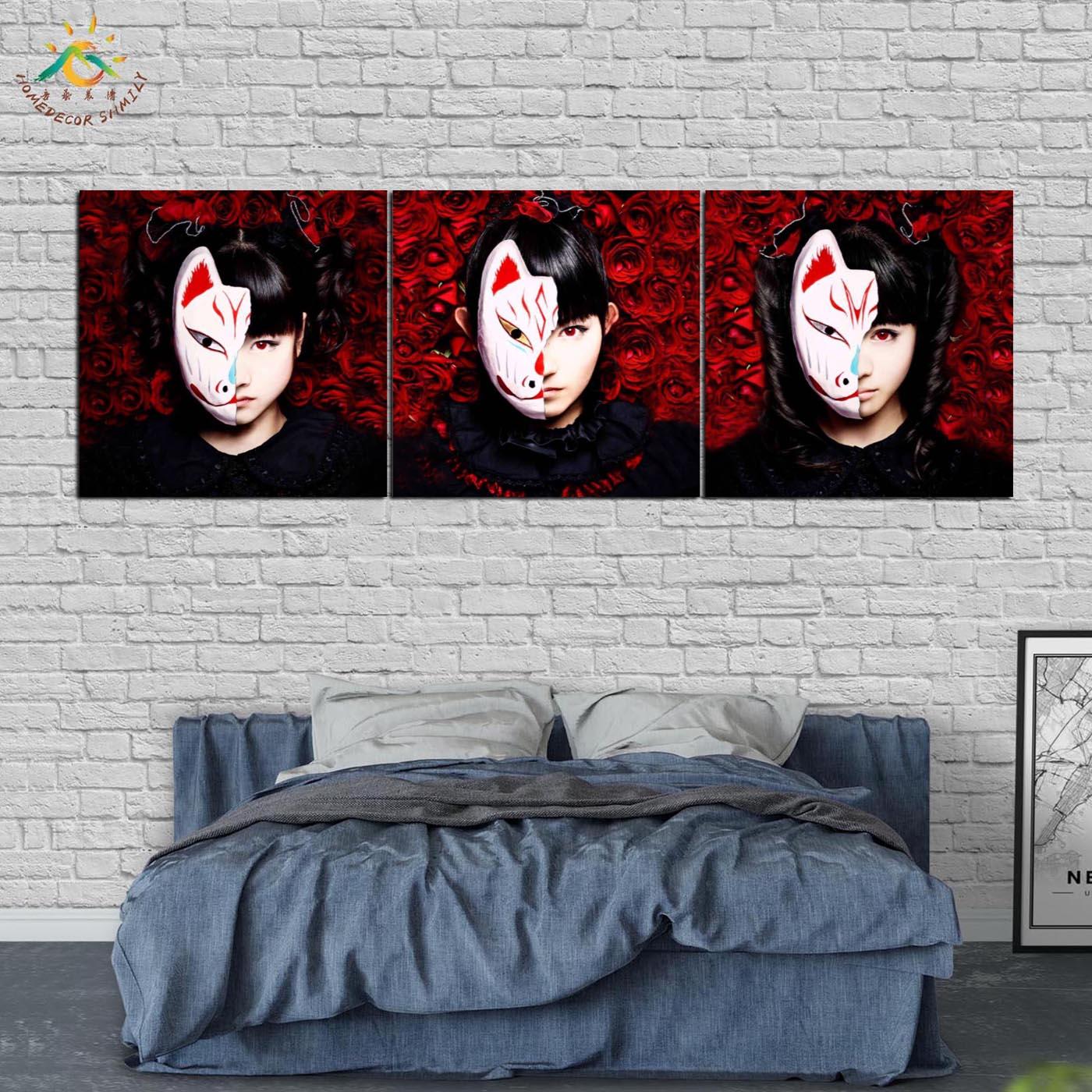 купить!  Японская Роза Маска Девушка Wall Art HD Отпечатки На Холсте Принт Живопись Картина Холст Картины