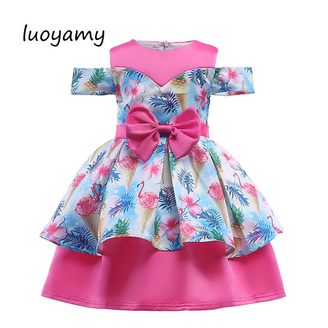 df3e13b2ba0da luoyamy Cute Printed Dress For Girls Clothes Summer Kids Gowns Wedding  Dress Elegant Girl Princess Dresses-in Dresses from Mother & Kids on ...