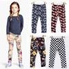 High Quality Leggings For Girls Cotton Flowers Letters Tights Leggings Children Girl Summer Spring Pants Camouflage