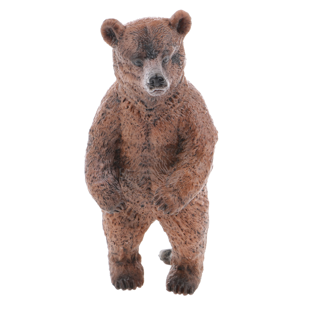 New Arrvals Realistic Standing Brown Bear Wild Animal Toy Model Action Figure Kids Toy Children's Birthday Gift Home Decoration new hot christmas gift 21inch 52cm bearbrick be rbrick fashion toy pvc action figure collectible model toy decoration