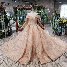 WONDMOND 2019 Rose Gold Ball Gown Wedding Dresses Gowns
