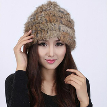 2017 hand-woven rabbit fur hat warm winter fashion wild tide female clothing accessories fur hat