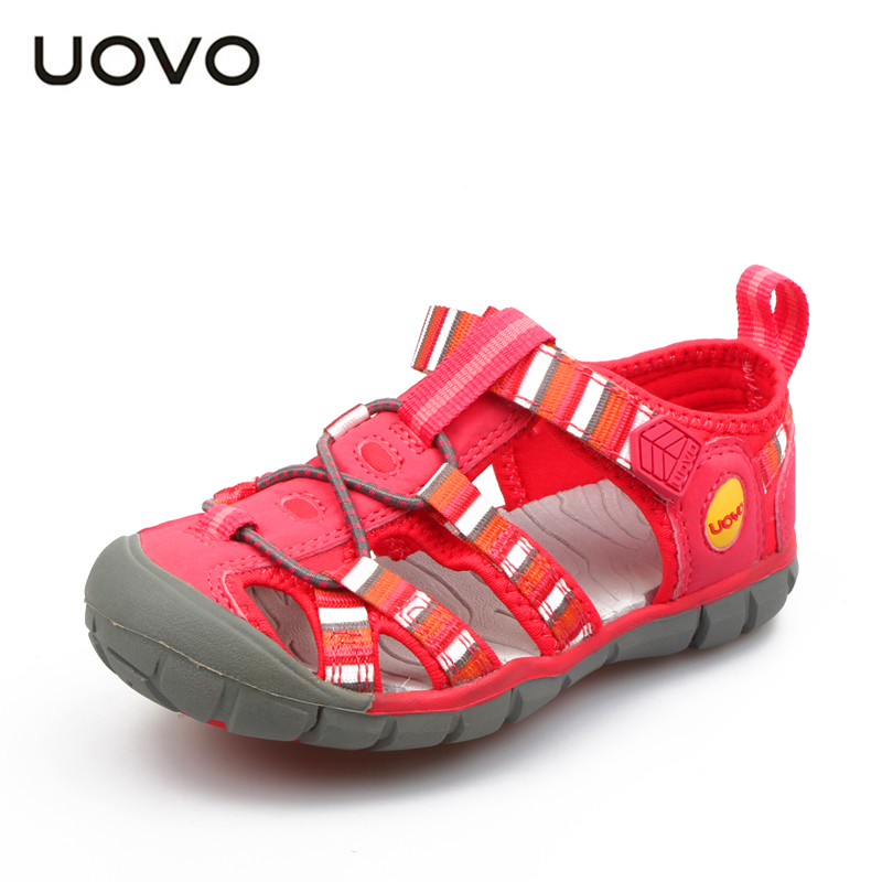 UOVO 2017 New Summer Children Shoes Boys & Girls Breathable Hollow Sandals Fashion Outdoor Sports Casual For Child Size 26-33