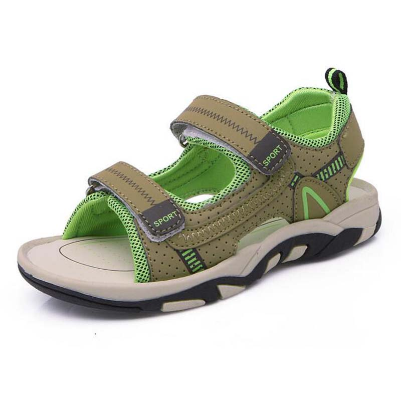 New Childrens Shoes Genuine leather boys sandals casual kids beach sport sandals comfortable students summer sneaker size 26-37
