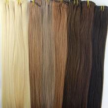 3 Bundles 300G 16″-26″ 6A Brazilian Virgin Hair Weft Extensions Weaving  Straight Virgin Human Hair Weft Bundles Free Shipping