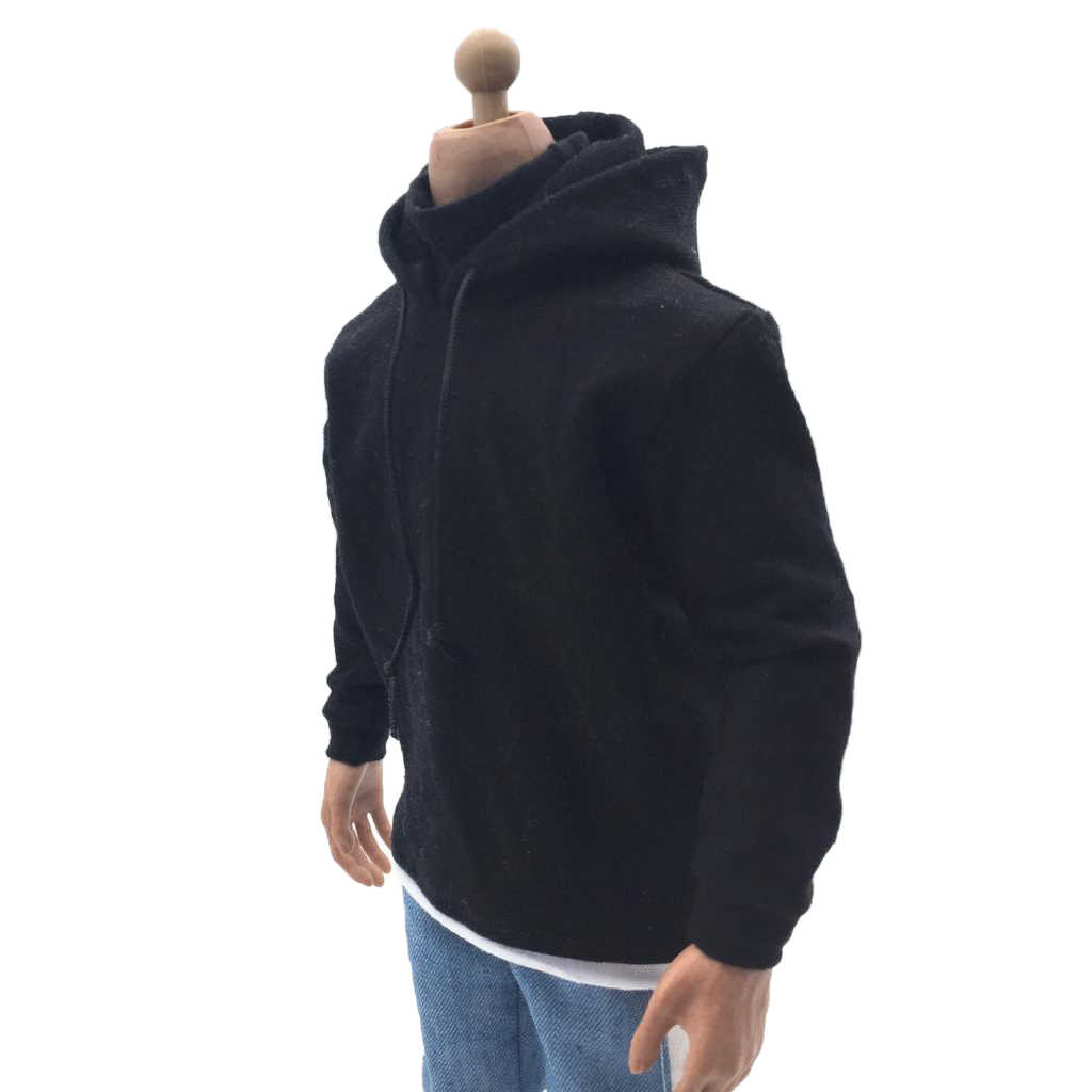 """1//6 Scale Gray Zippered Hoodie Outfit For 12/"""" HT PH Male Action Figure Body"""