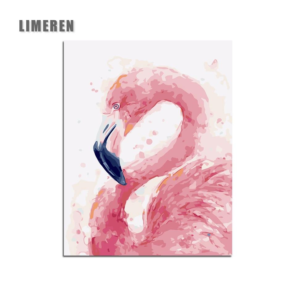 US $6 74 OFF In Flamingo Modular Gambar Mewarnai Dengan Angka Di Dinding Unframed DIY Minyak Menggambar Lukisan Dengan Angka Untuk Hadiah Yang