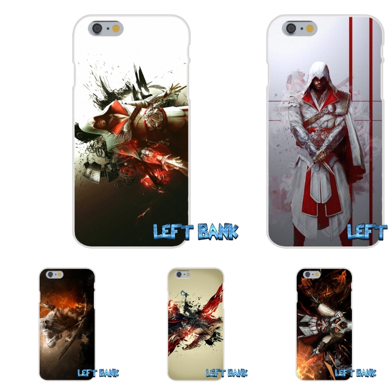For iPhone 4 4S 5 5S 5C SE 6 6S 7 Plus assasins creed cool vintage Soft Silicone TPU Tra ...