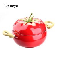 20cm Kitchen Soup Pot Fruit Pan Non Stick Aluminum Sauce Pan Boiler Tomato Shape No Fumes