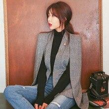 ZAWFL Новая мода осень женский плащ пальто Европейский стиль шаль пончо Длинный рукав отложной воротник женский офисный жакет пальто