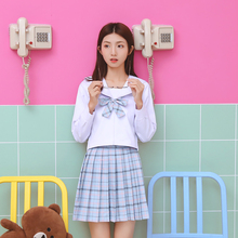 6322f00a7 Hot Schoolgirl Uniforms Short Sleeve Shirt Pleated Skirt Tie Sets Japanese  Korean School Uniform Cosplay Student