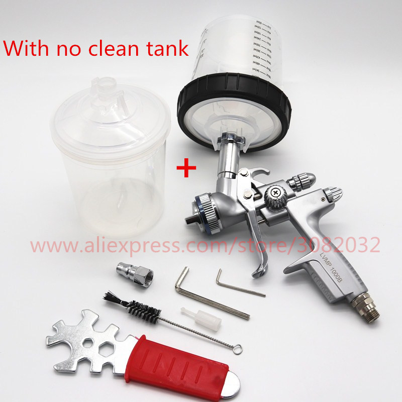 LVMP Spray Gun no clean cup air spray gun with Paint mixing cup PPS adapter cup
