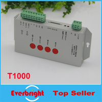 10 teile/los Beste Qualität DC5 ~ 24V T-1000S RGB Controller T1000S SD Karte WS2801 WS2811 WS2812B LPD6803 LED 2048 pixel Controller