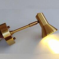 Nordic Американский современный зеркало свет упрощенный личности Ванная комната свет латунь E14 настенный светильник светодиодный бра Освещен